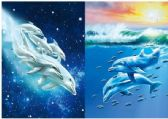50 Units of 3D Picture 9720--Dolphins