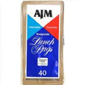 90 Units of Ajm paper lunch bags 40 Count - Bags Of All Types
