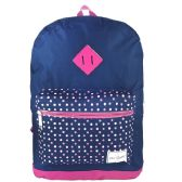 "24 Units of 17"" Girls Backpacks In 2 Colors - Case of 24 - Backpacks 17"""