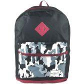 "24 Units of 17"" Backpacks In Black / Camo Design - Case of 24 - Backpacks 17"""