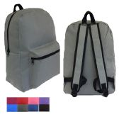 "48 Units of 17"" Basic Backpacks In 8 Assorted Colors - Backpacks 17"""