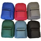 "48 Units of 17"" Basic Backpacks In 6 Assorted Colors - Backpacks 17"""