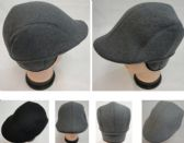 36 Units of Warm Ivy Cap with Ear Flaps [Wool-Like Solid Color] Assorted Colors - Fedoras, Driver Caps & Visor