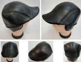 24 Units of Warm Ivy Cap with Ear Flaps [Leather-Like] Assorted Colors - Fedoras, Driver Caps & Visor