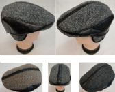 24 Units of Warm Ivy Cap with Ear Flaps [Leather-Like Strips] - Fedoras, Driver Caps & Visor