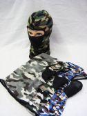 60 Units of Winter Fleece Ski Mask - Assorted Camouflage - Unisex Ski Masks