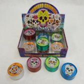 24 Units of Tobacco Grinder [Sugar Skull] - Novelty Toys