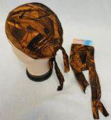 96 Units of Skull Cap-Orange Hardwood Camo