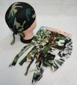 96 Units of Skull Cap-Army Camo Assortment