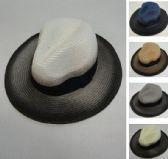 36 Units of Men's Woven Hat [Light/Dark Fade] - Fedora Hat/Driver Cap/ Ivy Cap/Visor