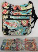 24 Units of Large Cross Body Bag [Paisley Print] - Shoulder Bags & Messenger Bags