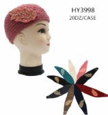 24 Units of Womens Knit Headband with Leaf Detail - Headbands