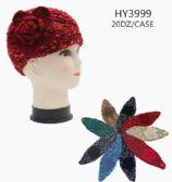 24 Units of Womens Knit Headband with Flower Detail - Headbands