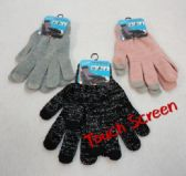 24 Units of Ladies Touch Screen Gloves [Metallic Thread] - Conductive Texting Gloves