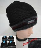 36 Units of Insulated Knitted Winter Hat [Striped Fold] Plush Lining