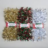 36 Units of Garland Tinsel 9ft Flipped Out Gold/red-green/silver White On Peggable Tcd W/belly Band