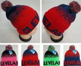 24 Units of Knitted Hat with PomPom [CLEVELAND NR] Digital Fade - Winter Beanie Hats