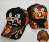 48 Units of HUNTER/BIG BUCK Hat [Camo Flames on Bill]