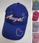 48 Units of Girl's Embroidered Ball Cap [Angel]