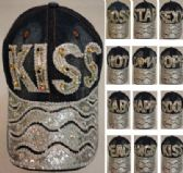 18 Units of Denim Hat with Bling [Colored Gem] Assortment