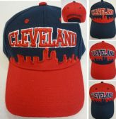 48 Units of LEVELAND Skyline Hat [Navy/Red]