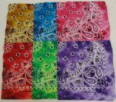 144 Units of Bandana-Tie Dye Paisley Assortment