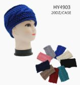 60 Units of Ladies Winter Knit Headband Assorted Color