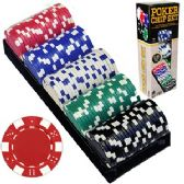 12 Units of 100 PIECE POKER CHIP SETS. - Dominoes & Chess