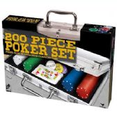 8 Units of 200 PIECE POKER SETS IN ALUMINUM CASE. - Dominoes & Chess