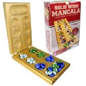 12 Units of SOLID WOOD MANCALA GAME SETS - Dominoes & Chess