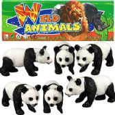 24 Units of 6 PIECE VINYL PANDA BEARS - Animals & Reptiles