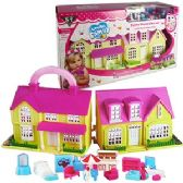 18 Units of 18 PIECE YELLOW LOVING FAMILY TRAVEL DOLL HOUSES.