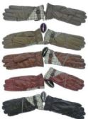 36 Units of Women's Gloves with Faux Fur inside 36 Pair - Winter Gloves