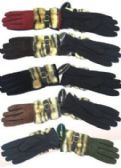 72 Units of Women's Glove With Faux Fur 72 Pair - Winter Gloves