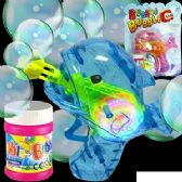 48 Units of FRICTION POWERED WHALE BUBBLE GUNS W/LIGHTS.