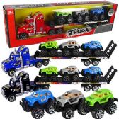 12 Units of FRICTION POWERED SEMI W/3 ATVS
