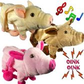 24 Units of JUMBO WALKING PIGS W/ REMOTE CONTROL LEASH & SOUND. - Animals & Reptiles