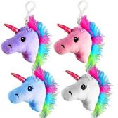 120 Units of PLUSH UNICORN ZIPPER PULL KEYCHAINS