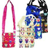 120 Units of OWL PRINT MESSENGER BAGS. - Shoulder Bags & Messenger Bags