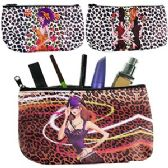 120 Units of LEOPARD GIRL MAKEUP BAGS - Cosmetic Cases