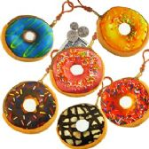120 Units of PLUSH DOUGHNUT COIN PURSE KEYCHAINS. - Coin Holders & Banks