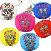 120 Units of PLUSH DAY OF THE DEAD SKULL COIN PURSE KEYCHAINS