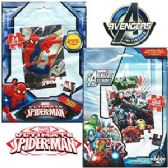 96 Units of SPIDERMAN AND AVENGERS JIGSAW PUZZLES - Puzzles