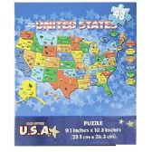 48 Units of U.S.A MAP JIGSAW PUZZLES - Puzzles