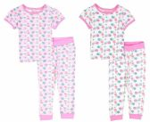 24 Units of Infant Girls Pajama - Seashell Prints - Sizes 6-24M - Toddler Girl PJ's