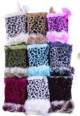 36 Units of Women's Animal Print Finger less Fur Glove - Winter Gloves