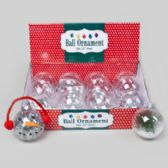 96 Units of Ornament Clear Plastic Ball - Christmas Ornament