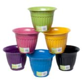 48 Units of Planter Bamboo 7.25x5.5 Fluted Biodegradable 6colors L&g Label
