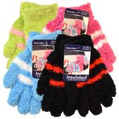 36 Units of Womens Soft Fuzzy Gloves - Fuzzy Gloves
