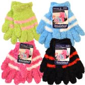 36 Units of Kids Soft Fuzzy Gloves - Fuzzy Gloves